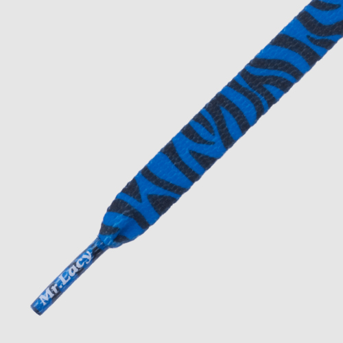 Mr.Lacy Printies Zebra Royal Blue